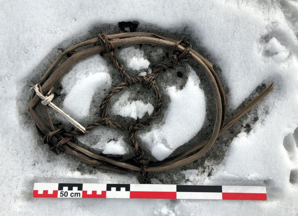 The horse snowshoe found in the Lendbreen pass. Photo by Espen Finstad, courtesy of Secrets of the Ice.